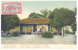 Cpa Afrique - Congo Portugais -  Poste Militaire De Maquella Du Zombo - Congo - Kinshasa (ex Zaire)