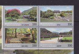 SOUTH KOREA, 2017, MNH, TOURIST DESTINATIONS FOR KOREANS, MOUNTAINS, TREES, CASTLES,  4v - Holidays & Tourism