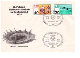 GERMANY 1974 World Cup Champion Special Cover - Coppa Del Mondo