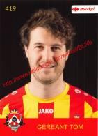 Tom Gereant 419 Voetbalclub KSK Schilde - Vignettes Autocollantes