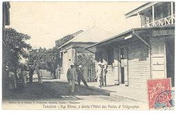 Cpa Afrique - Madagascar - Tamatave - Rue Blévec ... Hôtel Des Postes Et Télégraphes - Madagascar