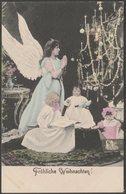 Fröhliche Weihnachten!, Engel Mit Drei Kindern, 1904 - KViB U/B AK - Other