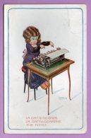Illustrata - A. Bertiglia - La Dattilografa - Bertiglia, A.