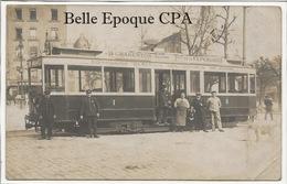 94 - CHARENTON - Ligne 24 - CHARENTON-Place De La RÉPUBLIQUE / Compagnie Générale Des OMNIBUS ++ CARTE-PHOTO / TRAMWAY - Charenton Le Pont