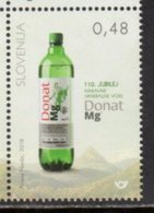 SLOVENIA,  2018, MNH,  MINERAL WATER, DONAT, MOUNTAINS, 1v - Drinks