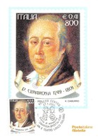 Cartolina Maximum D. Cimarosa 1749-1801 2001 - Postcards