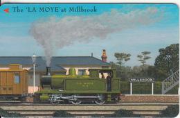 "JERSEY ISL.(GPT) - Train, The ""La Moye"" At Millbrook, CN : 82JERA(normal 0), Tirage %20000, Used - Royaume-Uni"