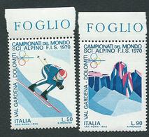 Italia, Italy, Italien, Italie 1970; Campionati Mondiali Di Sci Alpino. Serie Completa Di Bordo. - Sci