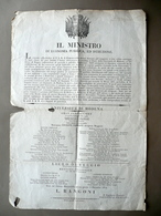 Grida Università Di Modena Liceo Di Reggio Cattedre Ruffini Filippo Re 1814 - Vecchi Documenti