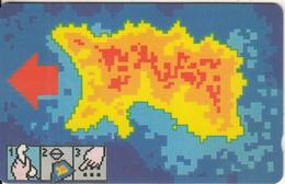 JERSEY ISL. - Heat Map Of Jersey, CN : 10JERA(normal 0), Used - United Kingdom