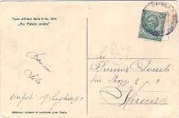 """1910-Libia Cartolina Con Leggera Piega Della Serie Tipi D'oriente """"Au Palais Arabe""""affrancata Libia 5c.Leoni Perfetto - Libyen"""