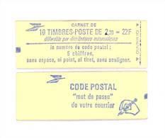 """CARNET 2376-C 1 Liberté De Delacroix """"CODE POSTAL"""" Fermé SOUS FACIALE Parfait état Bas Prix - Usage Courant"""
