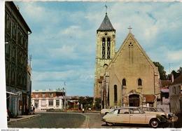 91 - CORBEIL ESSONNES - L'EGLISE (VIEILLES VOITURES DS) - Corbeil Essonnes