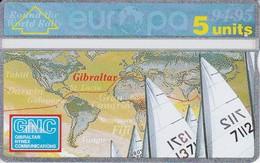 Nº 34 TARJETA DE GIBRALTAR DE INTERNATIONAL SPORTS - YACHTING) NUEVA-MINT - Gibraltar