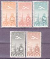 Denmark 1934. Air Mail. Michel 217-21. MNH(**) VF - 1913-47 (Christian X)