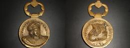 ABRIDOR O MEDALLON DE BRONCE DE CRISTOBAL COLON (180 GRAMOS) - Bronzes