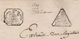 1779 Reprise Acte 15 Germinal An 8 Chateldon Puy De Dôme 2 Jolies Marques Fiscales Naissance Louis Anglade - Cachets Généralité