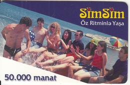 AZERBAIJAN - People, Azercell Prepaid Card 50000 Manat, Used - Azerbaïjan