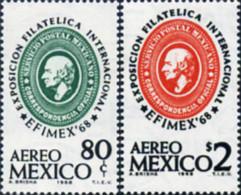 Ref. 28931 * NEW *  - MEXICO . 1968. EFIMEX 1968. INTERNATIONAL PHILATELIC EXHIBITION. EFIMEX 1968. EXPOSICION FILATELIC - Mexico