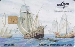 TARJETA DE BONAIRE DE UNA CARAVELA (BARCO-SHIP) - Antilles (Netherlands)