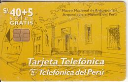 PERU - Museo Nacional De Antropología, Arqueología E Historia Del Peru, Telefonica Telecard, Tirage 30000, 05/98, Used - Peru