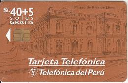 PERU - Museo De Arte De Lima, Telefonica Telecard, Tirage 30000, 05/98, Used - Peru
