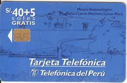 PERU - Museo Arqueológico Rafael Larco Herrera, Telefonica Telecard, Tirage 30000, 05/98, Used - Peru