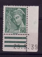 Coin Daté 25/9/39 N* F168 - 1930-1939