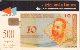 BOSNIA - Banknote(500 Units), 08/98, Used - Bosnia