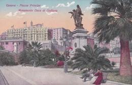 Postcard Genova Piazza Principe Monumento Duca Di Galliera My Ref  B12288 - Genova (Genoa)