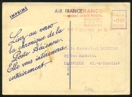 Carte Publicitaire Air France Affranchie Par EMA 1938 - Marcophilie (Lettres)