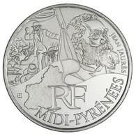 Pièce Régions Midi Pyrénées 10 Euros Argent 2012 - Frankrijk