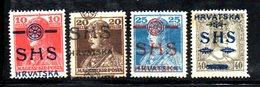 386 490 - YUGOSLAVIA 1918 , Emissione Per La Croazia  Unificato N. 82/85  *  Linguella - Nuovi