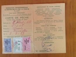 Permis De Pêche Du Var 1969 - Vieux Papiers