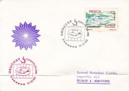URUGUAY EXPORTA CALIDAD. PESCA. URUGUAY. OBLITERE 1986- BLEUP - Uruguay