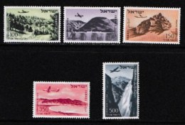 ISRAEL, 1953, Mint Never Hinged Stamp(s), Air 5 Values Only,  SG 76-82a, Scan 17005,  No Tabs - Israel