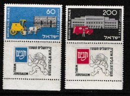 ISRAEL, 1954, Mint Never Hinged Stamp(s), National Stamp  Exhibition,  SG 98-99 Scan 17018,  No Tabs - Israel