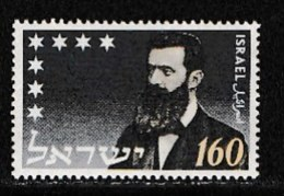 ISRAEL, 1954, Mint Never Hinged Stamp(s), Death Of Herzl,  SG 96, Scan 17014,  No Tabs - Israel