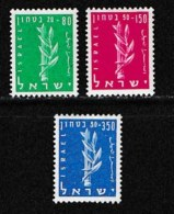 ISRAEL, 1957, Mint Never Hinged Stamp(s), Defence Fund,  SG 134-136, Scan 17035,  No Tabs - Israel