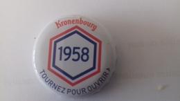 CAPSULE DE BIERE KRONENBOURG 1958 BLANC - Cerveza