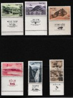 ISRAEL, 1953, Mint Never Hinged Stamp(s), Air 6 Values Only,  SG 76=82a, Scan 17004,  With Tab(s) - Israel
