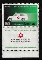 ISRAEL, 1955, Mint Never Hinged Stamp(s), Magen David Adam,   Scan 17006,  With Tab(s) - Ongebruikt (met Tabs)