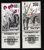 ISRAEL, 1954, Mint Never Hinged Stamp(s), 6th Year Independence,  SG 94-95,  Scan 17011,  With Tab(s) - Ongebruikt (met Tabs)