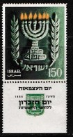 ISRAEL, 1955, Mint Never Hinged Stamp(s), 7th Year Of Independence,  SG 103,  Scan 17026,  With Tab(s) - Israel