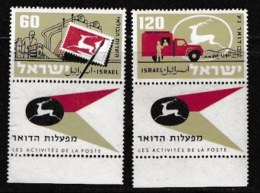 ISRAEL, 1959, Mint Never Hinged Stamp(s), Postal Administration,  SG 155-158,  Scan 17044, With Tab(s) - Israel
