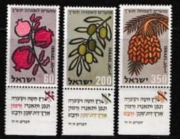 ISRAEL, 1959, Mint Never Hinged Stamp(s), Jewish New Year,  SG 166-168,  Scan 17050, With Tab(s) - Israel
