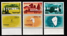 ISRAEL, 1959, Mint Never Hinged Stamp(s), Settlements,  SG 170-172,  Scan 17051, With Tab(s) - Israel