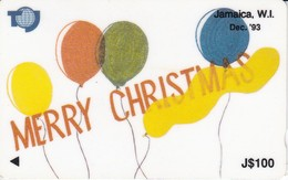 TARJETA DE JAMAICA DE 100$ DE MERRY CHRISTMAS (NAVIDAD)  16JAMC - Jamaïque