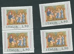 Italia 1971; Natale Da Lire 90; Quattro Valori. - 6. 1946-.. Repubblica