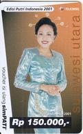 INDONESIA - Putri Indonesia 2001, Telkomsel Prepaid Card Rp 150000, Exp.date 31/12/02, Used - Indonesia